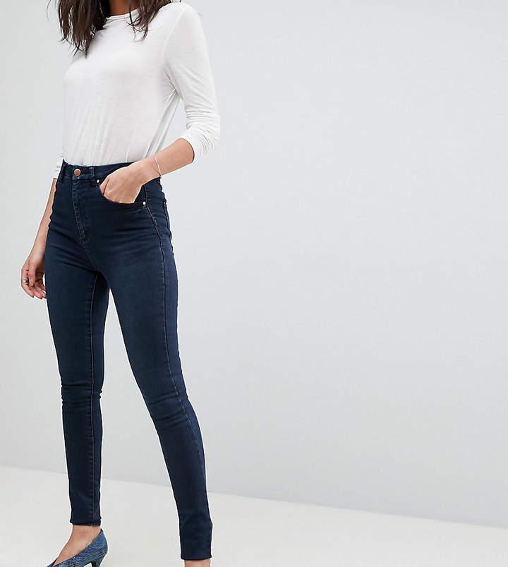 ASOS Tall ASOS TALL – Sculpt Me – Hochwertige Jeans mit hohem Taillenbund in dunkelblauer Vivienne-Waschung