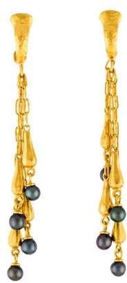 Gurhan 24K Pearl Drop Earrings