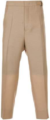 Jil Sander cropped trousers with grosgrain belt