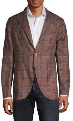 Printed Wool, Silk & Linen Blazer