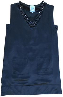 April May Navy Silk Dress for Women