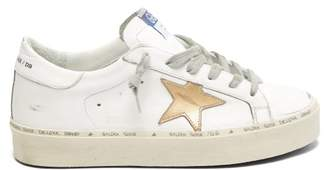 Golden Goose Hi Star Low Top Leather Trainers - Womens - White Gold
