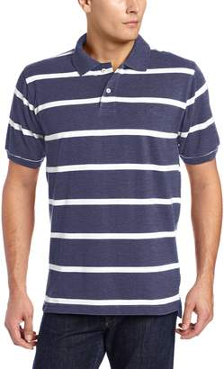 U.S. Polo Assn. Men's Short Sleeve Striped Pique Shirt