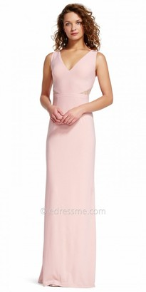 Adrianna Papell Lace Inset V-neck Evening Dress $179 thestylecure.com