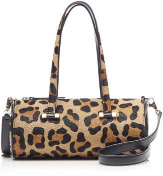 Les Petits Joueurs Emma Haircalf Cheetah Print Shoulder Bag