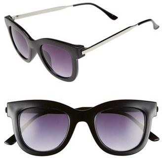 A.J. Morgan 'Lily' 50mm Retro Sunglasses $24 thestylecure.com