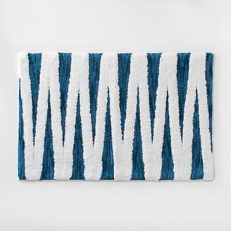 Opalhouse Zig Zag Bath Rug Teal Blue/White