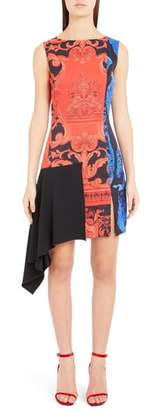 Versace Casa Print Asymmetrical Dress