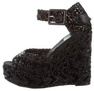 Hermes Woven Platform Wedges w/ Tags