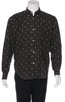 Our Legacy Linen Geometric Print Woven Shirt