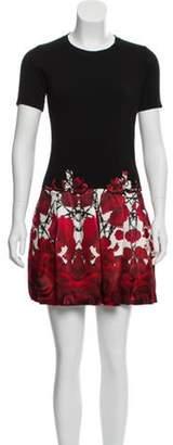 Philipp Plein Short Sleeve Mini Dress Black Short Sleeve Mini Dress