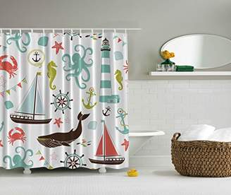 Ambesonne Fabric Shower Curtain by