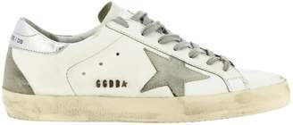 Golden Goose Sneakers Superstar Sneakers In Leather With Suede Star And Laminated Heel