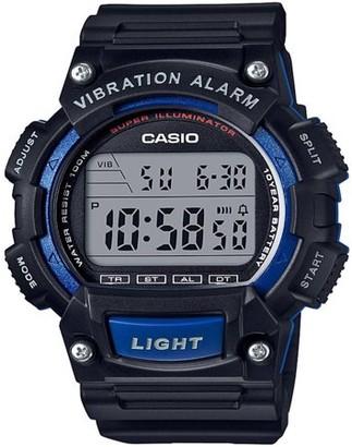 Casio Men's Sport Digital Watch with Vibration Alarm, Black/Blue