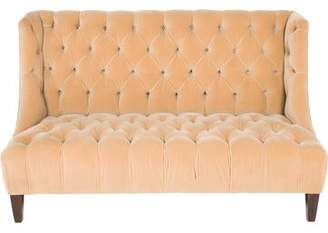 Custom Tufted Velvet Settee