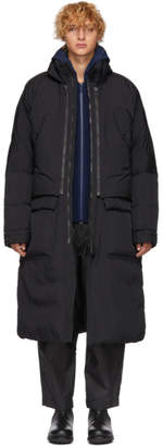 Issey Miyake Black Down Convertible Washed Jacket