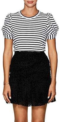 A.L.C. Women's Kati Puff-Sleeve Cotton T-Shirt - Blk. stripe