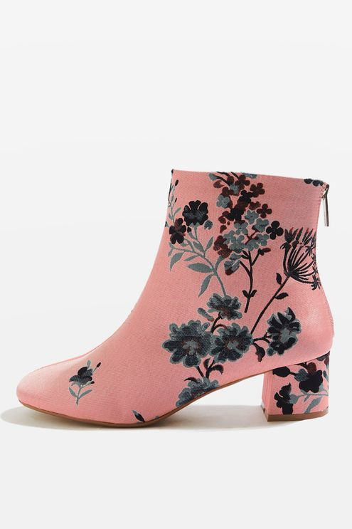 Topshop Topshop Blooming floral ankle boots