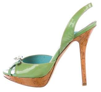 Christian Dior Patent Leather Slingback Sandals