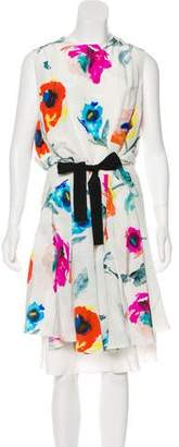 Oscar de la Renta Silk Midi Dress w/ Tags
