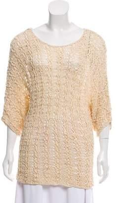Rachel Zoe Scoop Neck Patterned Sweater