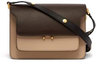 Marni Trunk Medium Leather Shoulder Bag - Womens - Brown Multi