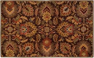 Surya Caesar Black Floral Rug - 4' x 6'