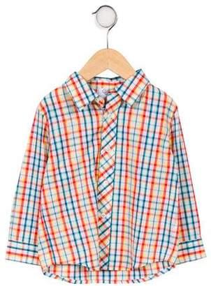 Baby CZ Boys' Plaid Button- Up Shirt
