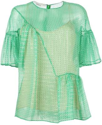 Stella McCartney circle star flounce blouse
