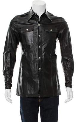 Calvin Klein Leather Shirt Jacket w/ Tags
