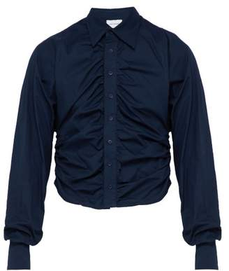 Bianca Saunders - Tension Cotton Shirt - Mens - Navy