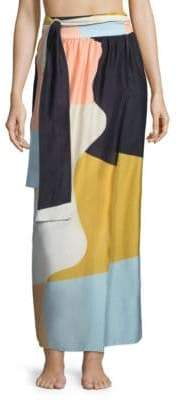 Mara Hoffman Cora Colorblock Wrap Skirt