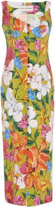 Mara Hoffman Angelica Buttoned Floral Tencel And Linen Blend Midi Dress
