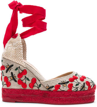 Castaner Embroidered Canvas Carina Espadrilles