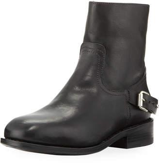 Rag & Bone Oliver Buckled Lamb-Leather Moto Ankle Boot