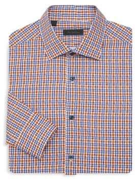 Saks Fifth Avenue COLLECTION Bright Plaid Shirt