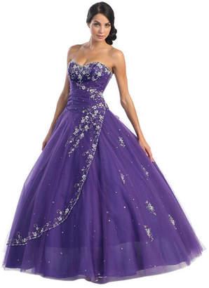 Asstd National Brand Strapless Formal Princess Ball Gown - Juniors