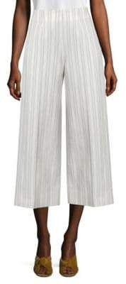 Rebecca Taylor Cropped Striped Pants