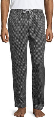 Robert Graham Men's Delta Wing Diamond Cotton Lounge Pants