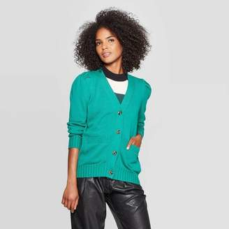 Who What Wear Women's Puff Shoulder Long Sleeve Cardigan - Who What WearTM