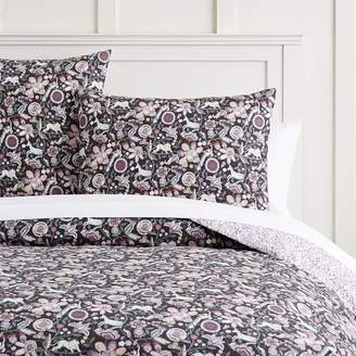 Pottery Barn Teen Liberty London Mythical Forest Reversible Duvet Cover, Twin/Twin XL, Multi