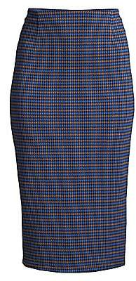 Max Mara Women's Caravan Houndstooth Plaid Pencil Skirt