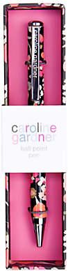 Caroline Gardner Ditsy Charcoal Ballpoint Pen