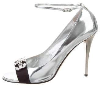 Giuseppe Zanotti Embellished Ankle-Strap Pumps