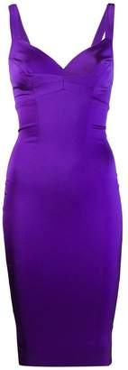 Murmur fitted midi dress