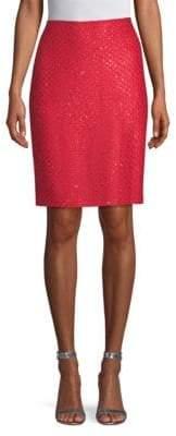St. John Sequin Knit Skirt
