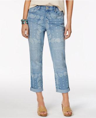 Style & Co Bandana-Print Boyfriend Jeans, Only at Macy's $54 thestylecure.com