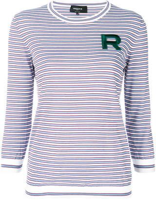 Rochas striped logo top