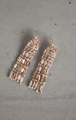BCBGMAXAZRIA Stone Tassel Earrings