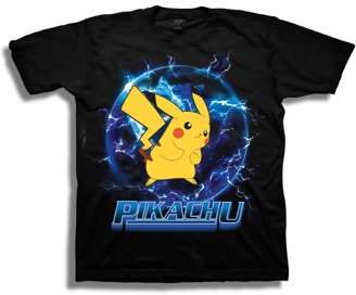 Pokemon Boys' Pikachu Lightning Orb Short Sleeve Graphic T-Shirt